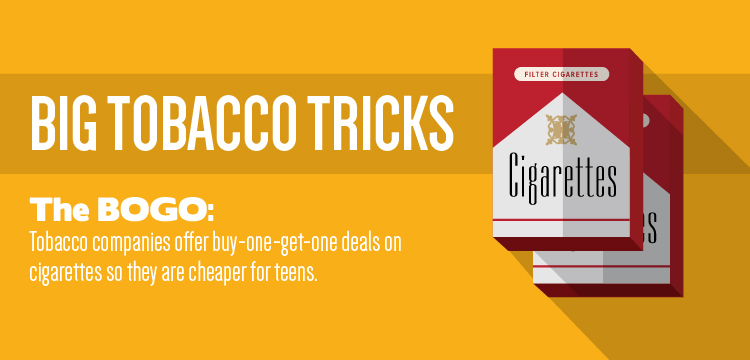 Tobacco companies offer buy-one-get-one deals to make cigarettes cheaper for teens