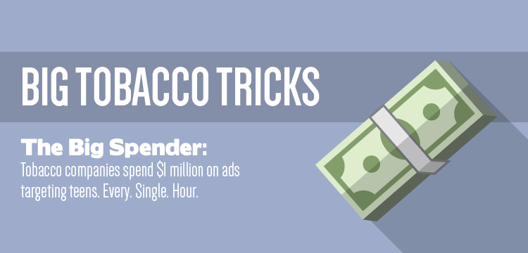 Tobacco companies spend $1 million on ads targeting teens - every single hour
