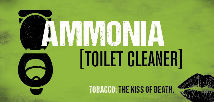 Cigarette smoke contains the same chemical that's in toilet cleaner