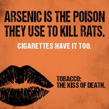 Arsenic is the poison they use to kill rats. Cigarettes have it too.