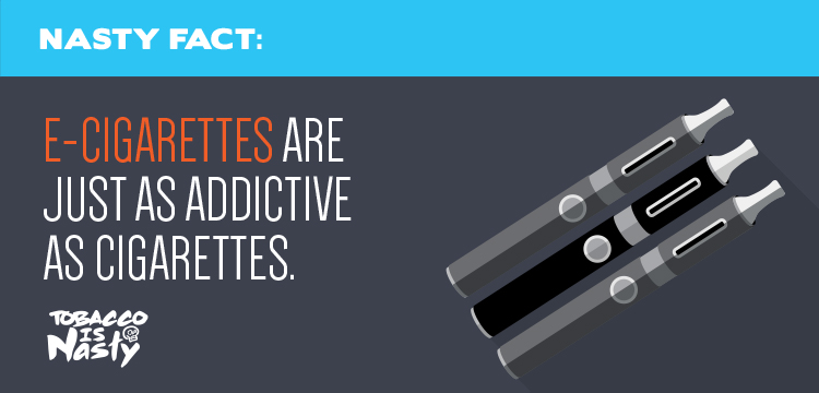 E-cigarettes are just as addictive as cigarettes